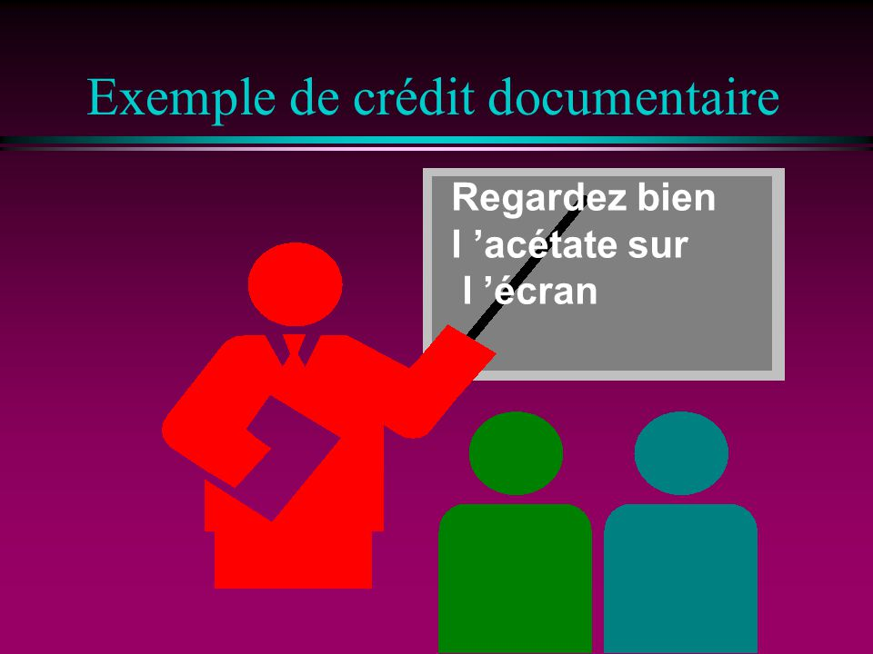 Exemple de crédit documentaire