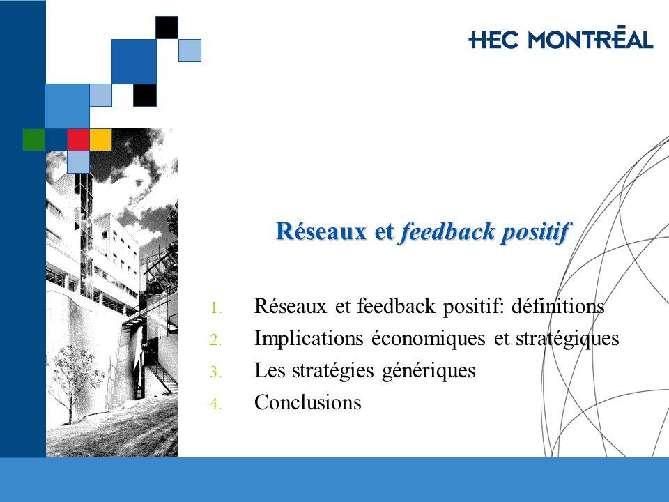 Réseaux et feedback positif