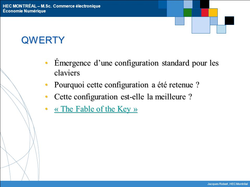 QWERTY Émergence d'une configuration standard pour les claviers