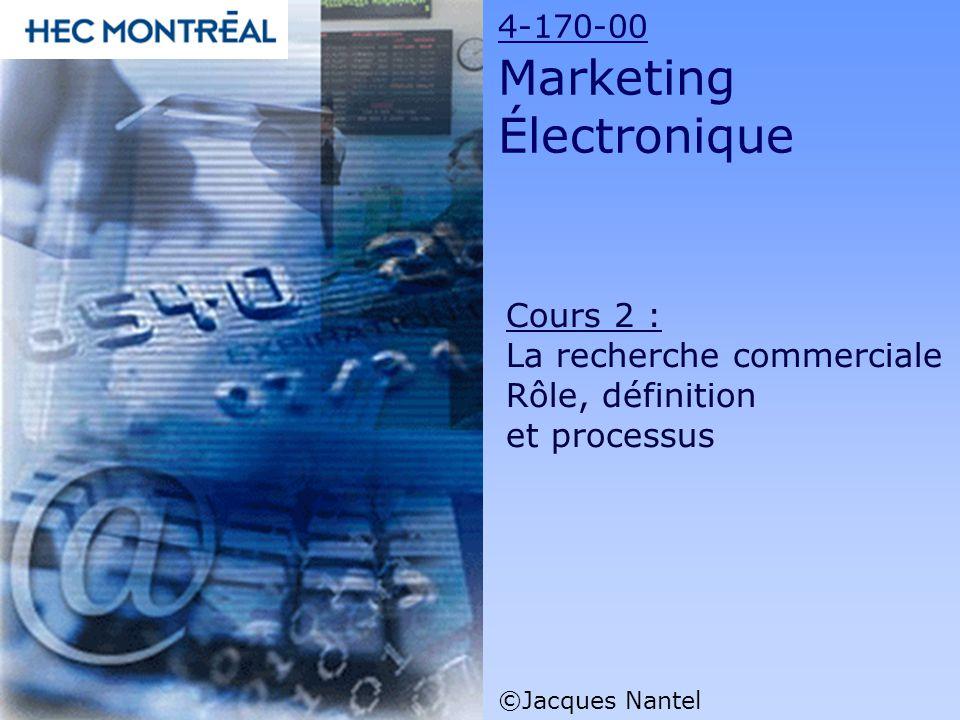 Cours 2 : La recherche commerciale Rôle, définition et processus