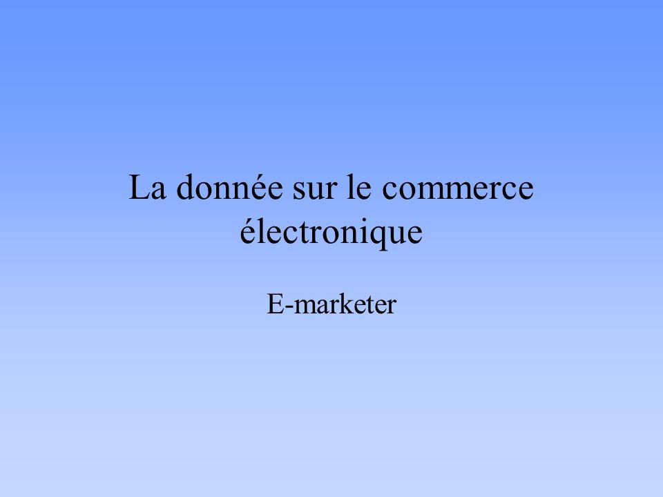 La donnée sur le commerce électronique