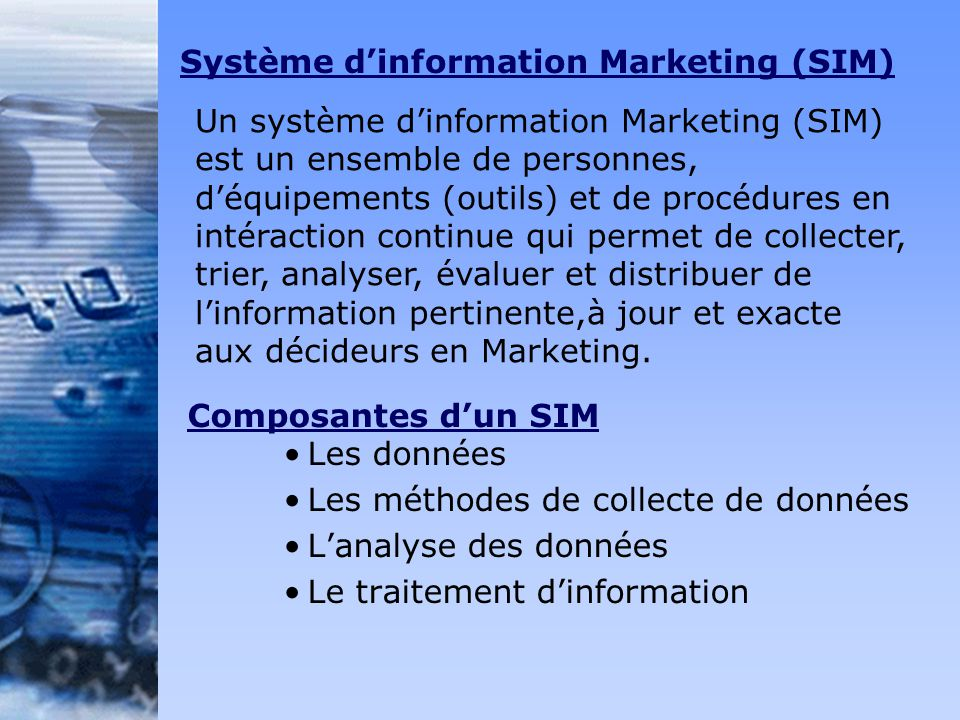 Système d'information Marketing (SIM)