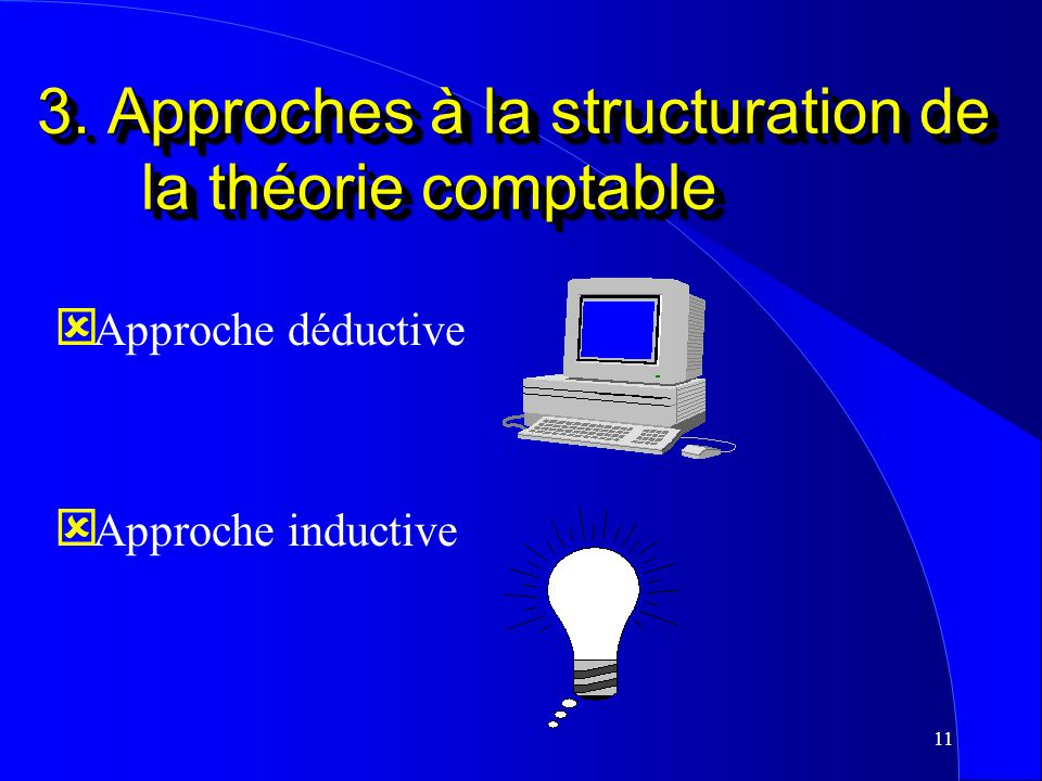 3. Approches à la structuration de la théorie comptable