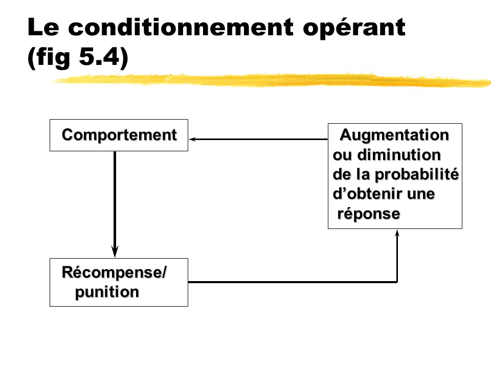 Le conditionnement opérant (fig 5.4)