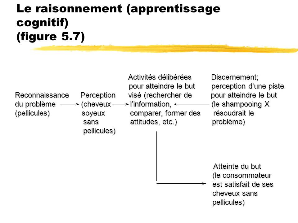 Le raisonnement (apprentissage cognitif) (figure 5.7)