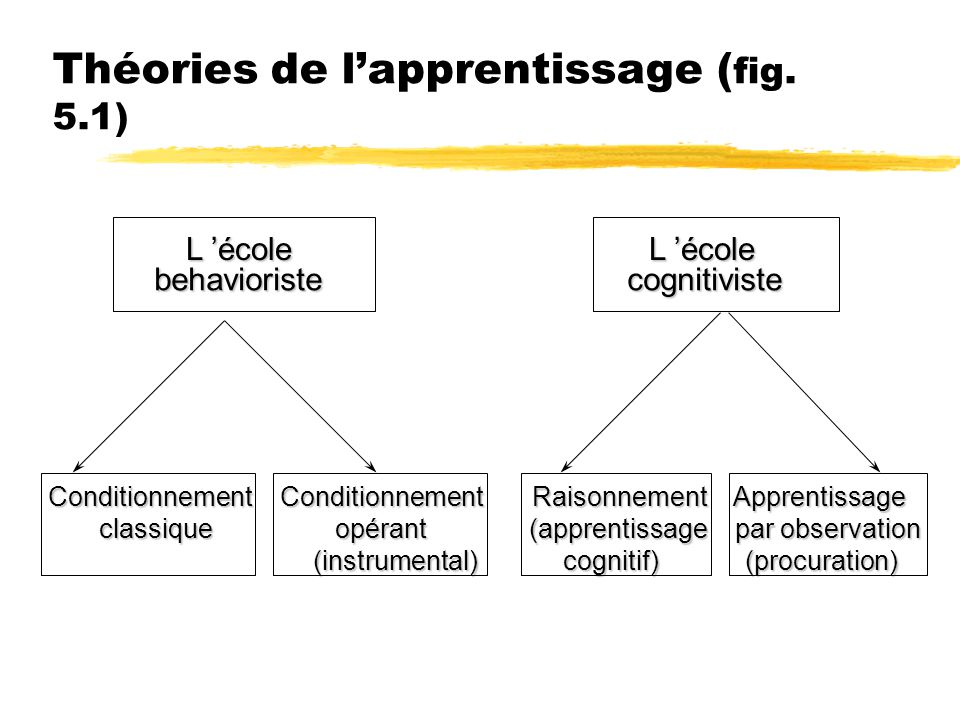 Théories de l'apprentissage (fig. 5.1)