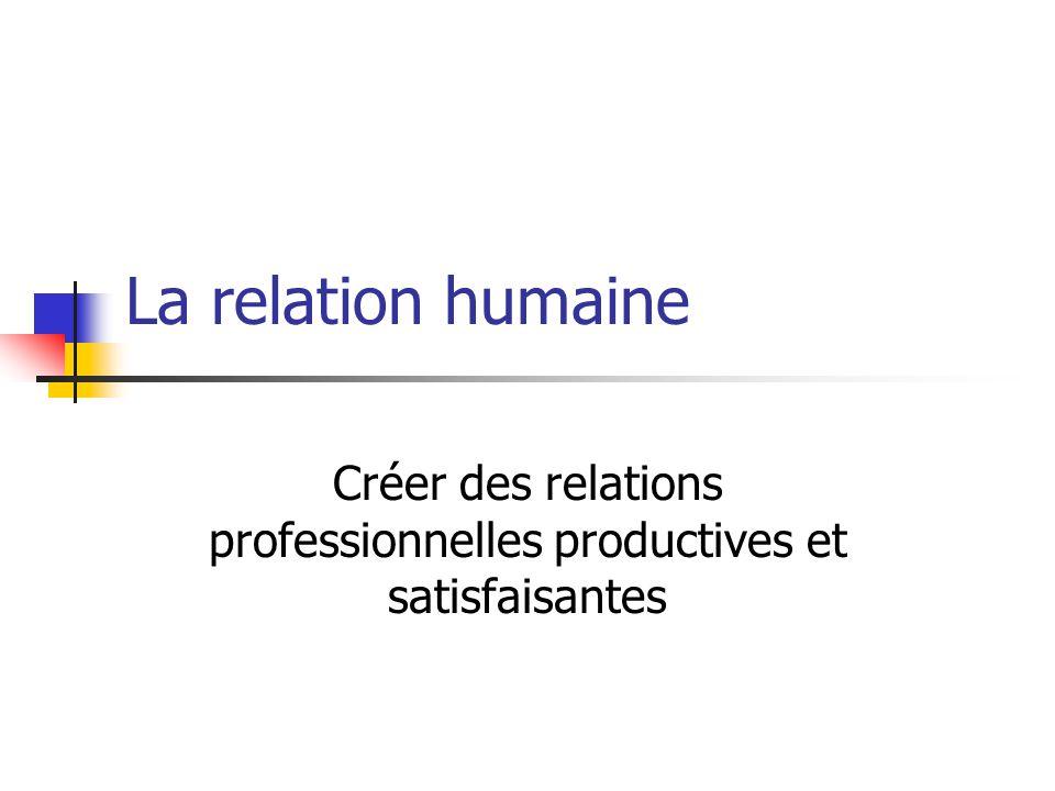 Créer des relations professionnelles productives et satisfaisantes