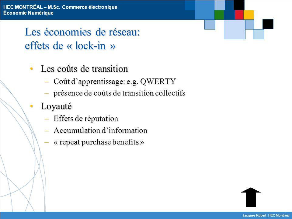 Les économies de réseau: effets de « lock-in »