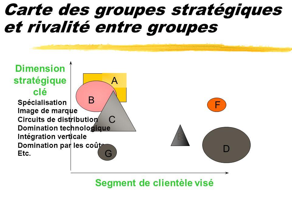 Carte des groupes stratégiques et rivalité entre groupes