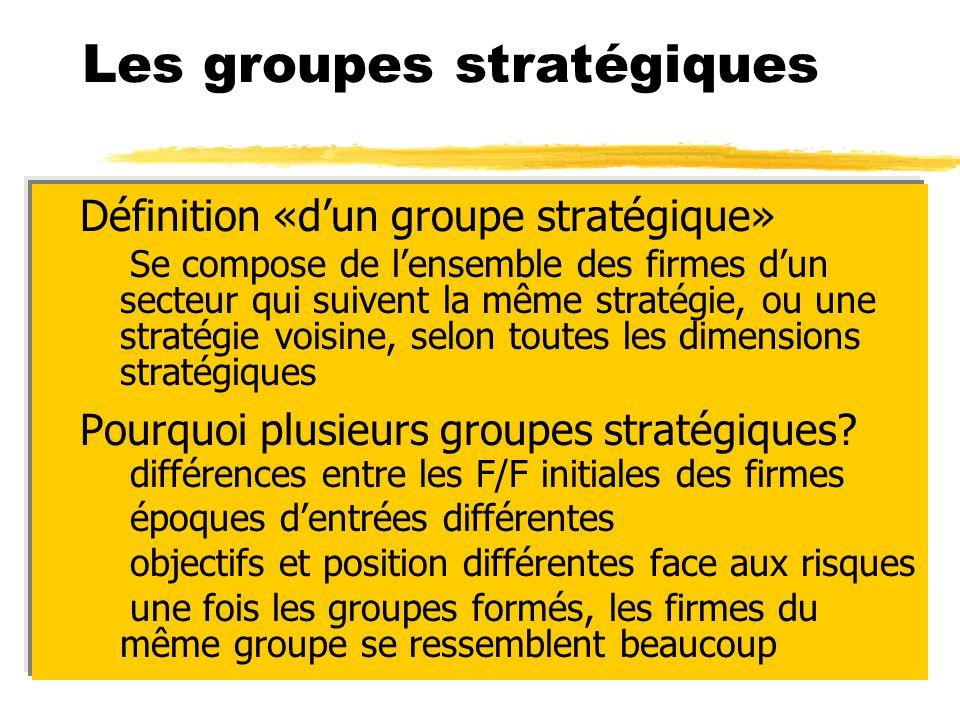 Les groupes stratégiques