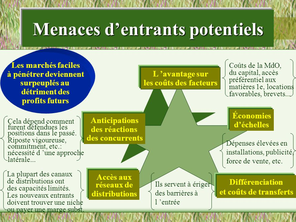 Menaces d'entrants potentiels
