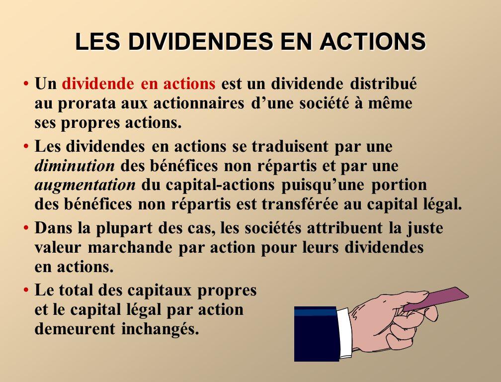 LES DIVIDENDES EN ACTIONS