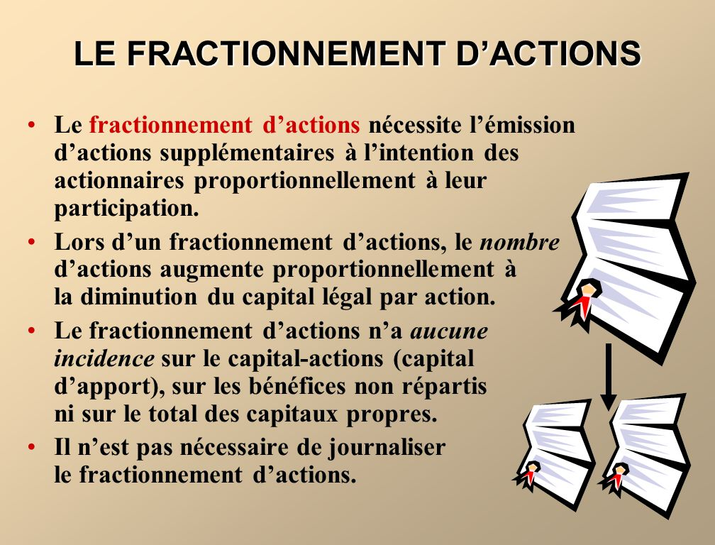 LE FRACTIONNEMENT D'ACTIONS
