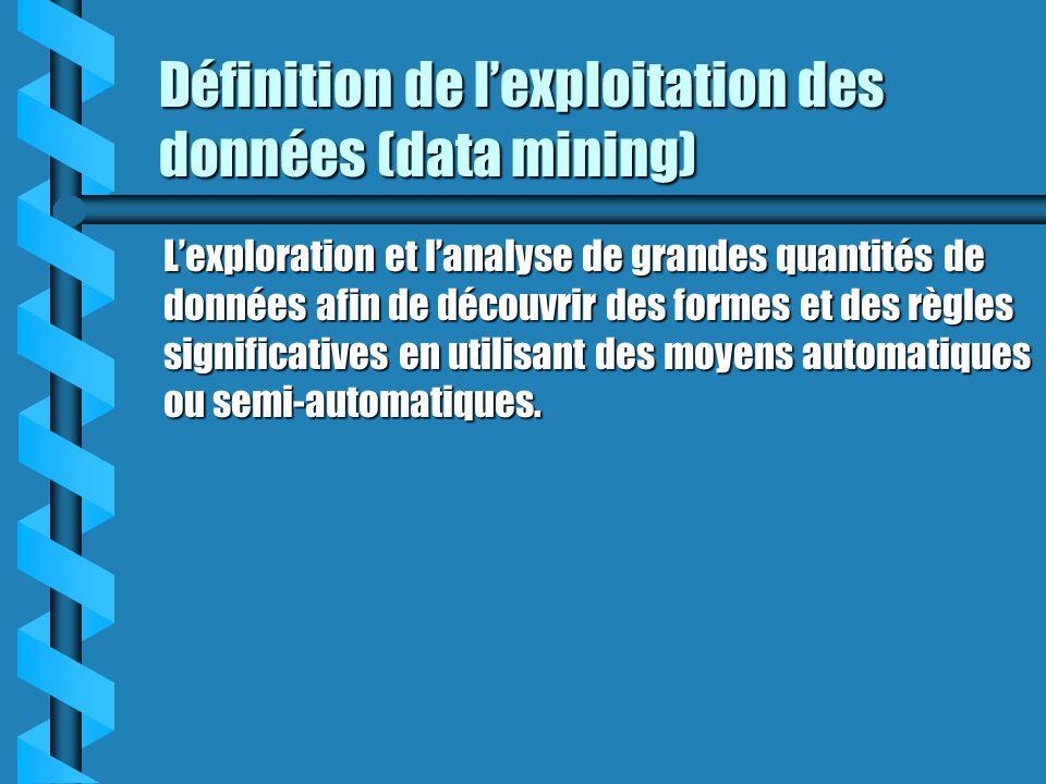 Définition de l'exploitation des données (data mining)