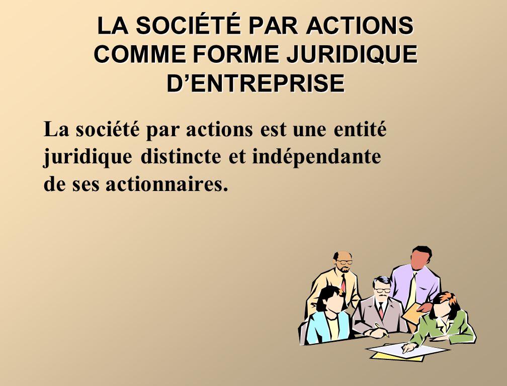 LA SOCIÉTÉ PAR ACTIONS COMME FORME JURIDIQUE D'ENTREPRISE