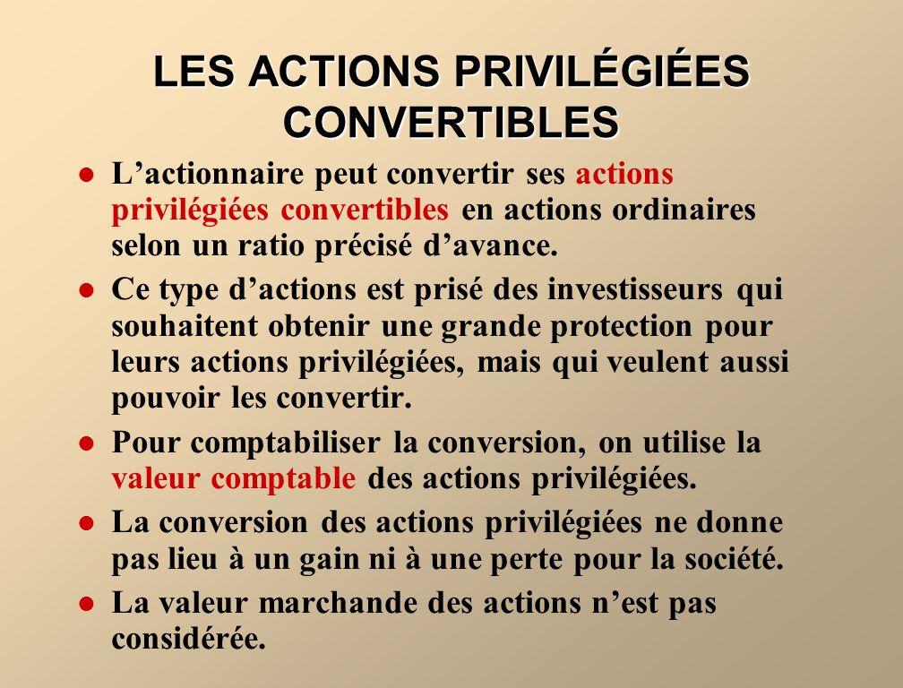 LES ACTIONS PRIVILÉGIÉES CONVERTIBLES