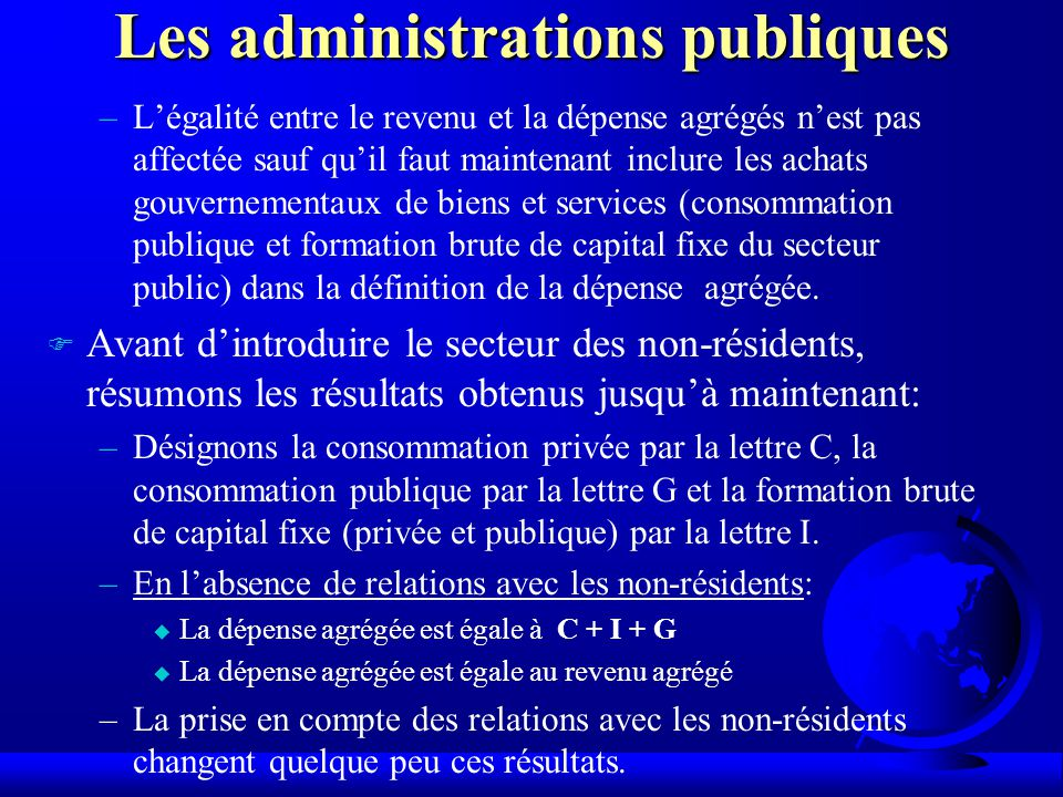 Les administrations publiques