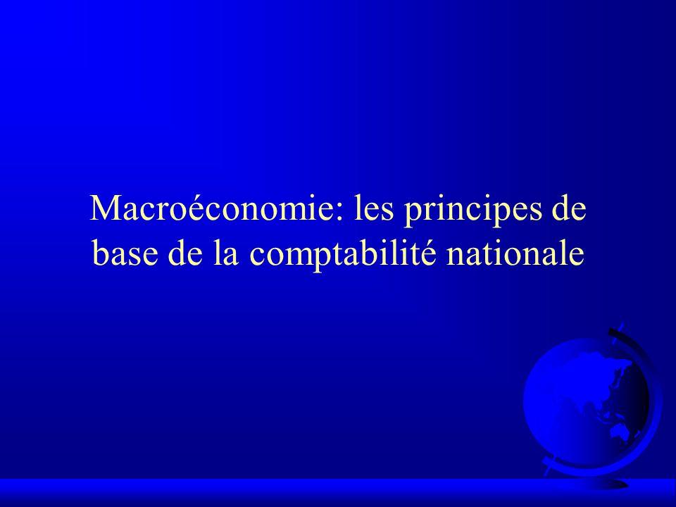 Macroéconomie: les principes de base de la comptabilité nationale
