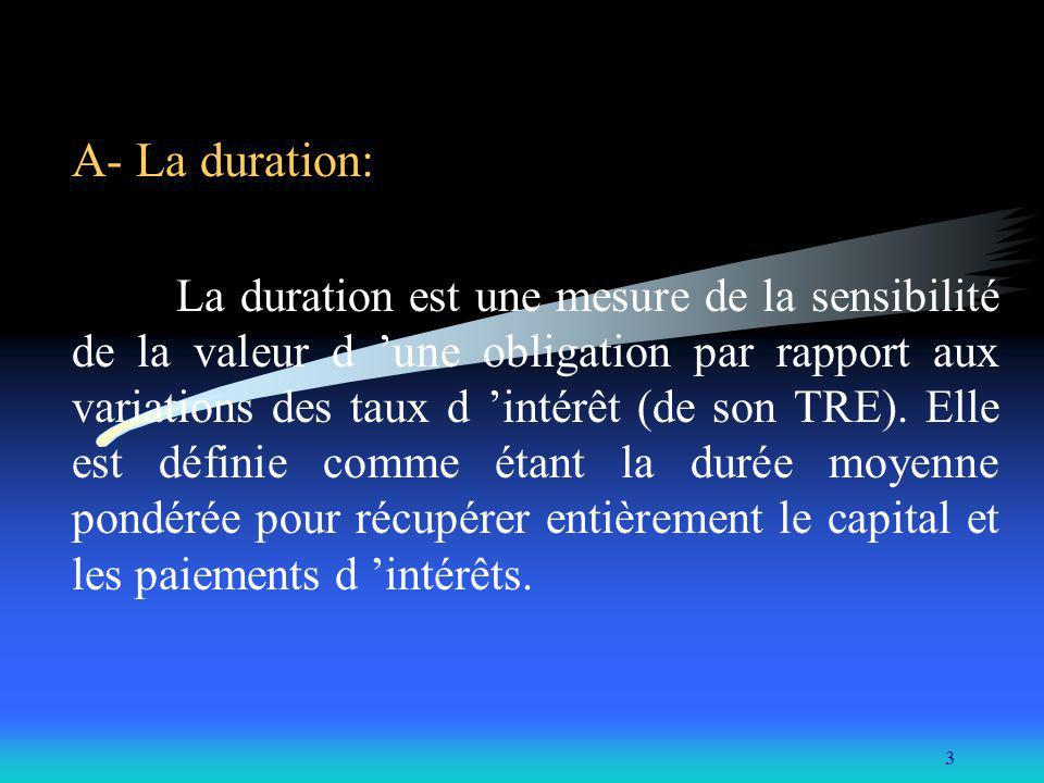 A- La duration: