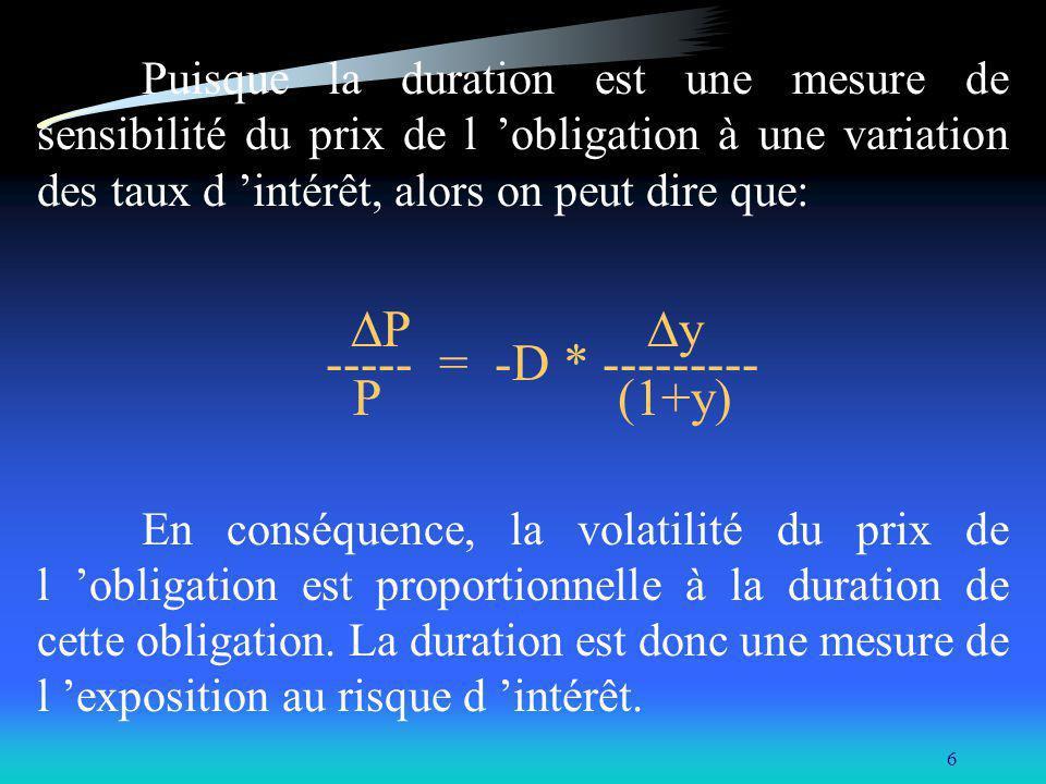 P y ----- = -D * --------- P (1+y)