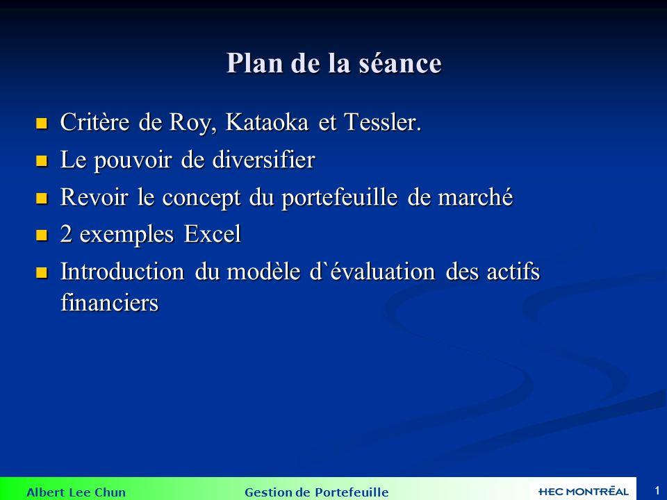Critères de Roy, Kataoka et Tessler