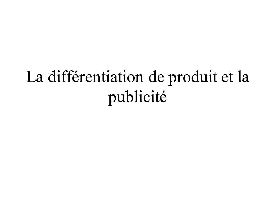 La différentiation de produit et la publicité
