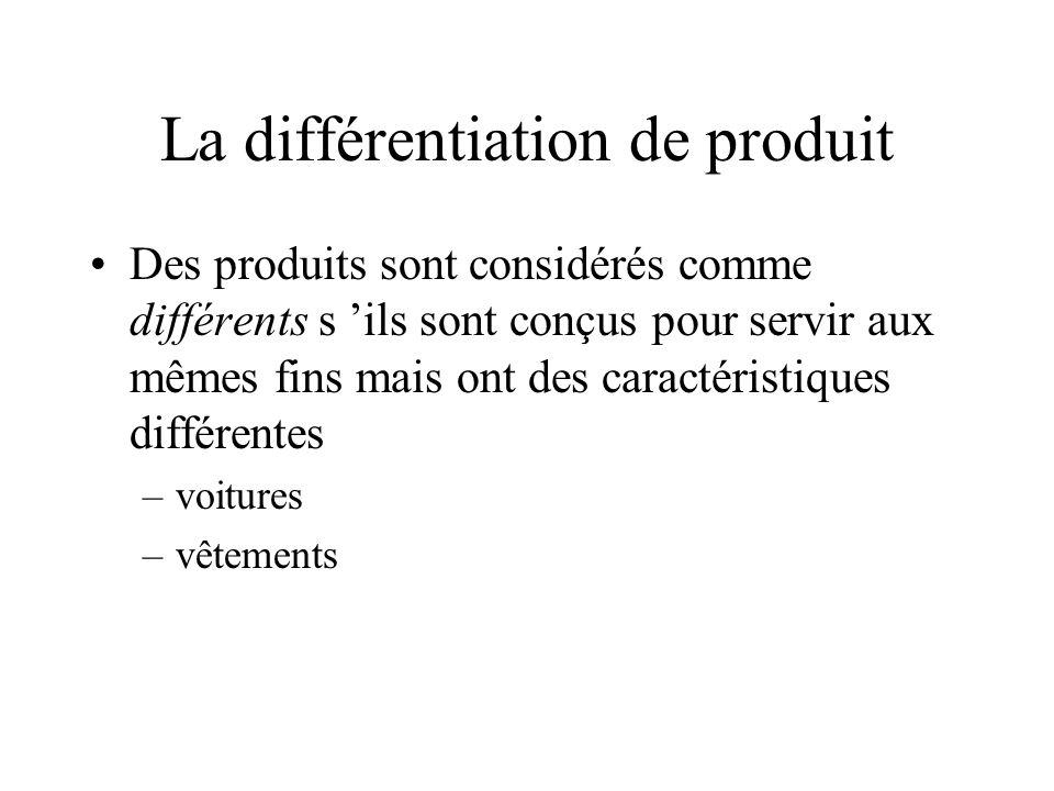 La différentiation de produit