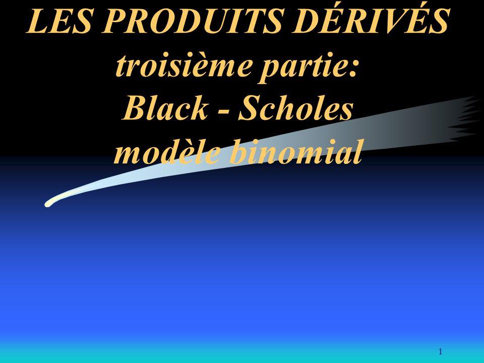 LES PRODUITS DÉRIVÉS troisième partie: Black - Scholes modèle binomial