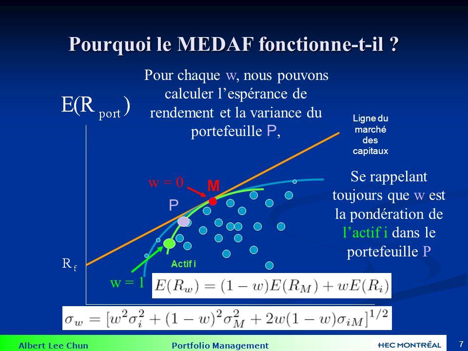 Pourquoi le MEDAF fonctionne-t-il