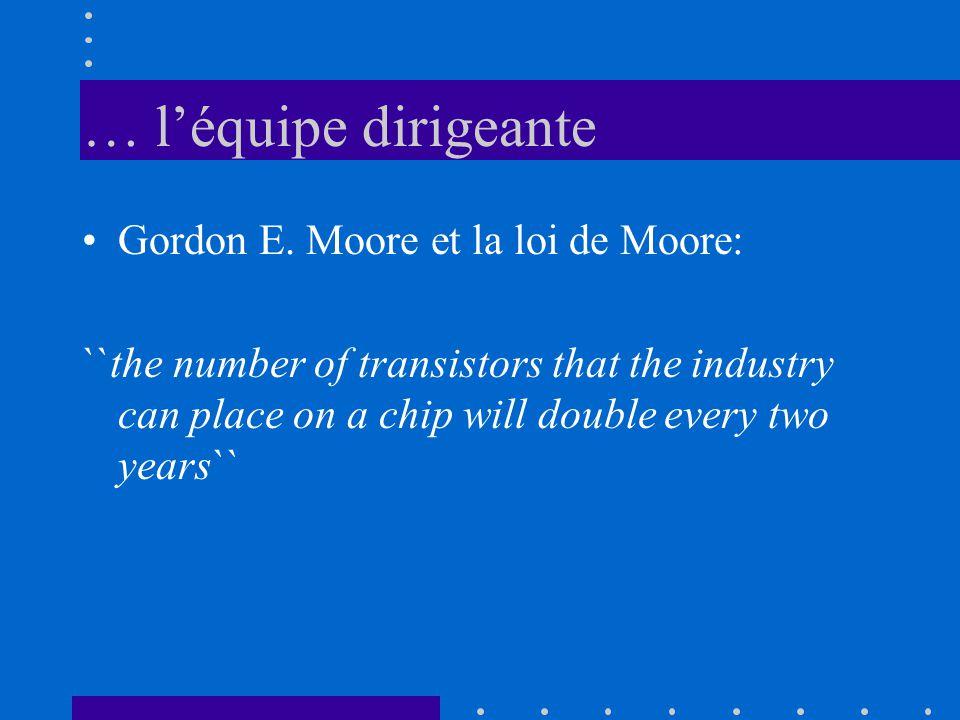 … l'équipe dirigeante Gordon E. Moore et la loi de Moore: