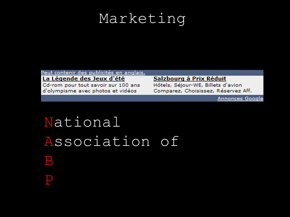 Marketing National Association of B P