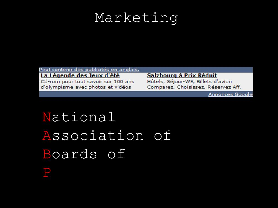 Marketing National Association of Boards of P