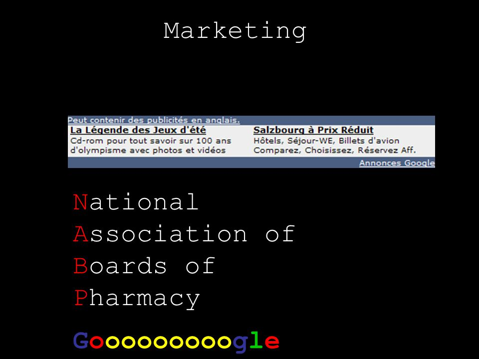 Marketing National Association of Boards of Pharmacy Gooooooooogle