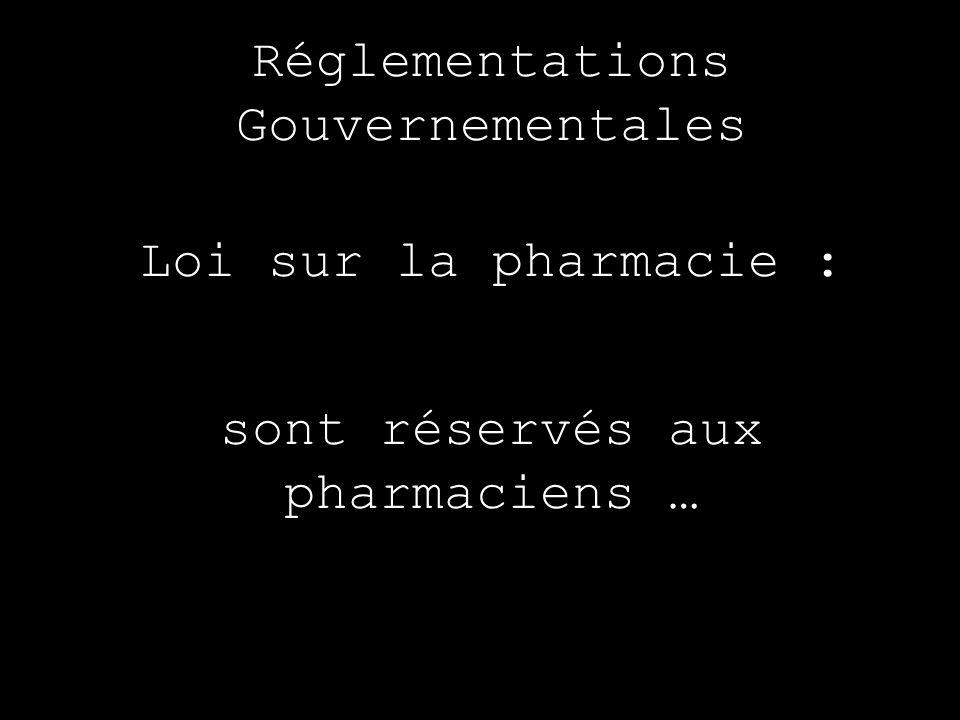 sont réservés aux pharmaciens …