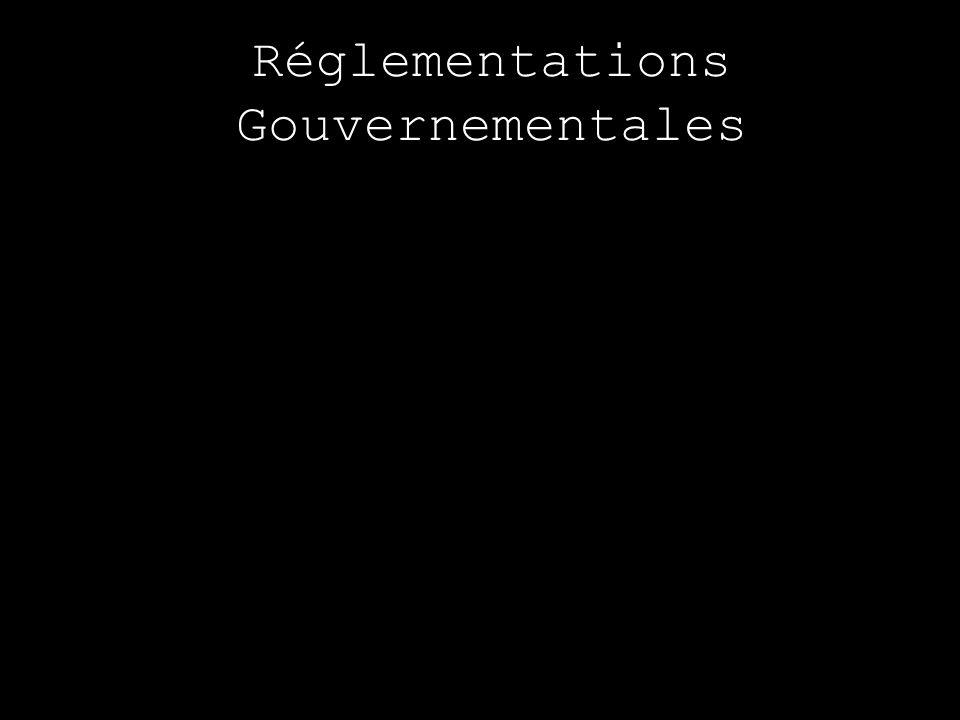 Réglementations Gouvernementales