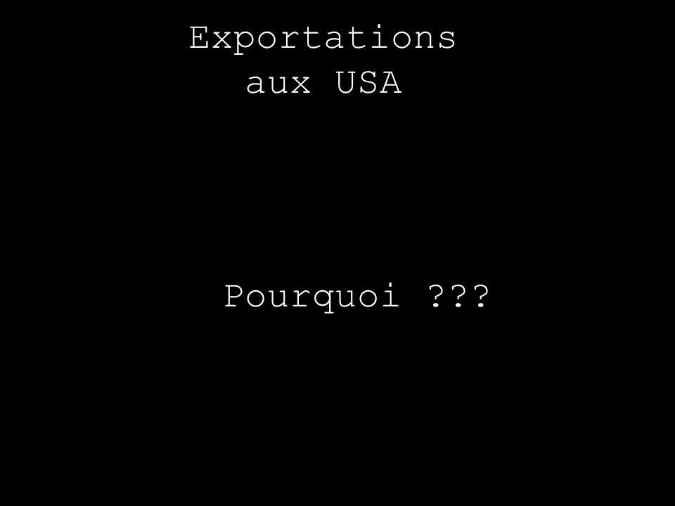 Exportations aux USA Pourquoi