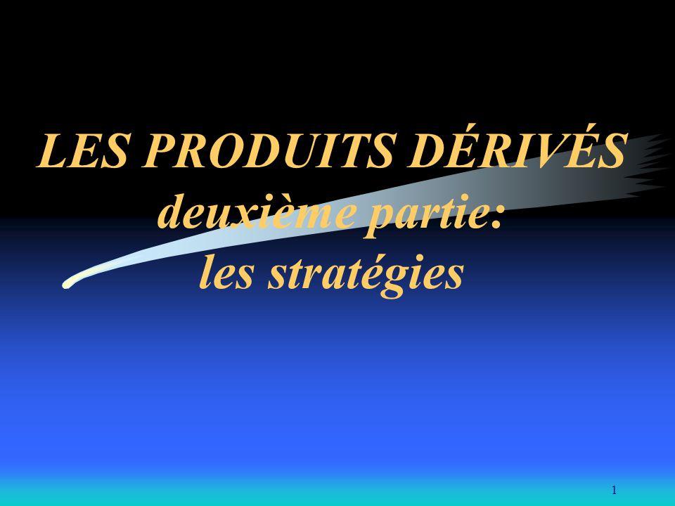 LES PRODUITS DÉRIVÉS deuxième partie: les stratégies