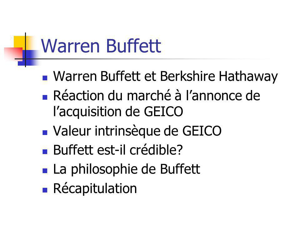 Warren Buffett Warren Buffett et Berkshire Hathaway