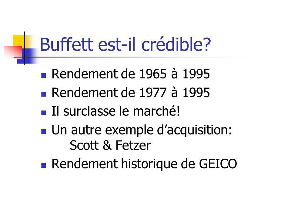 Buffett est-il crédible