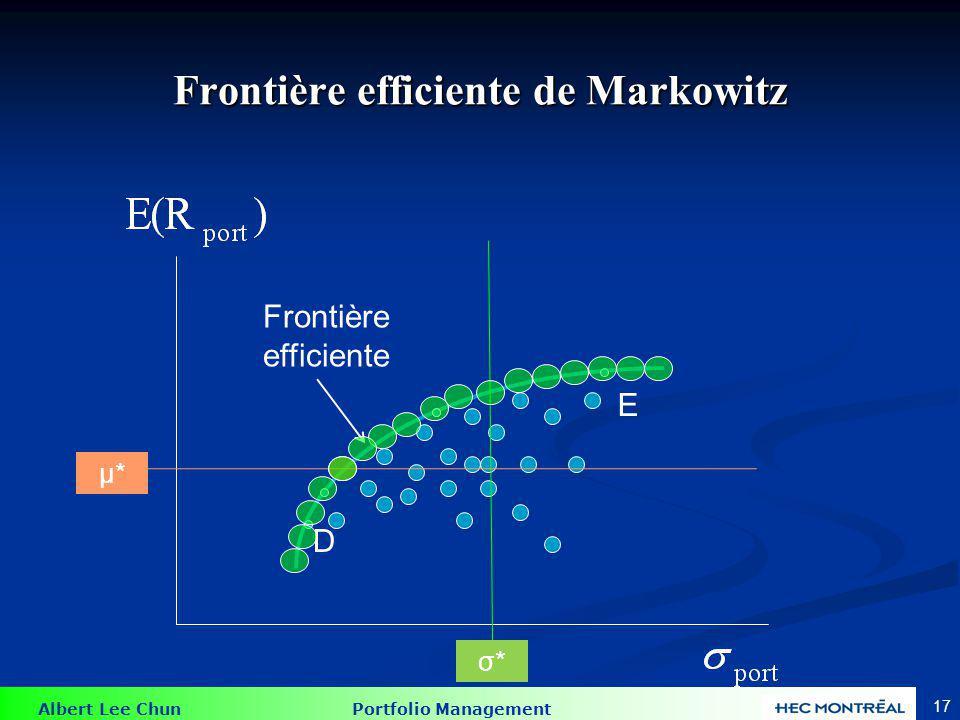 Le problème de Markowitz I