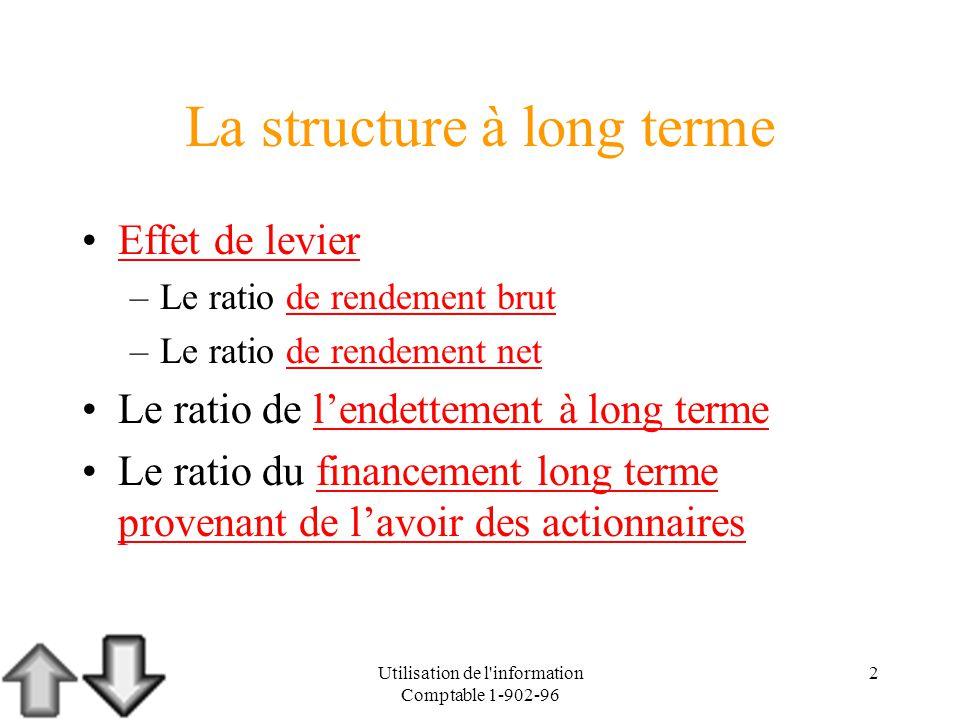 La structure à long terme