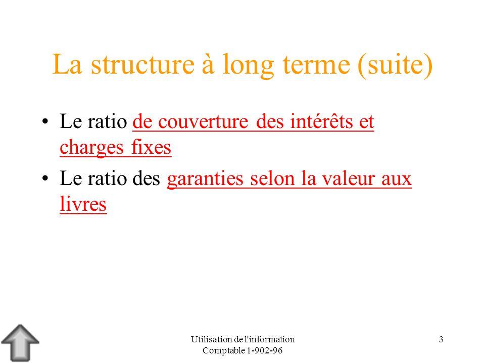 La structure à long terme (suite)