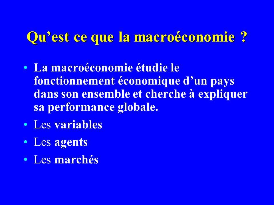 Qu'est ce que la macroéconomie