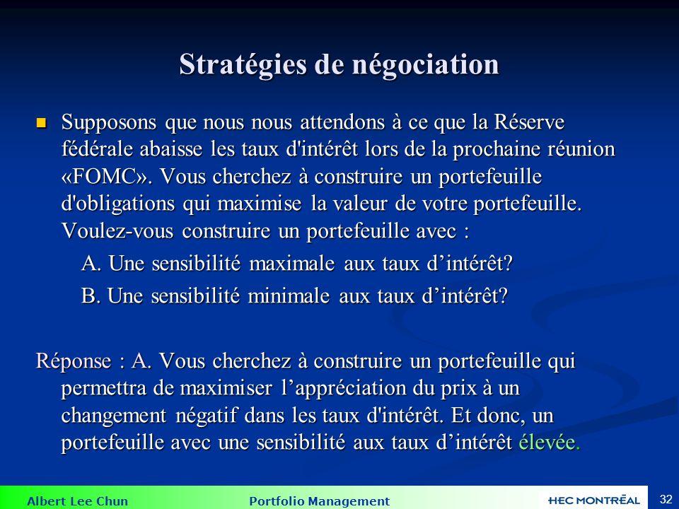 Stratégies de négociation