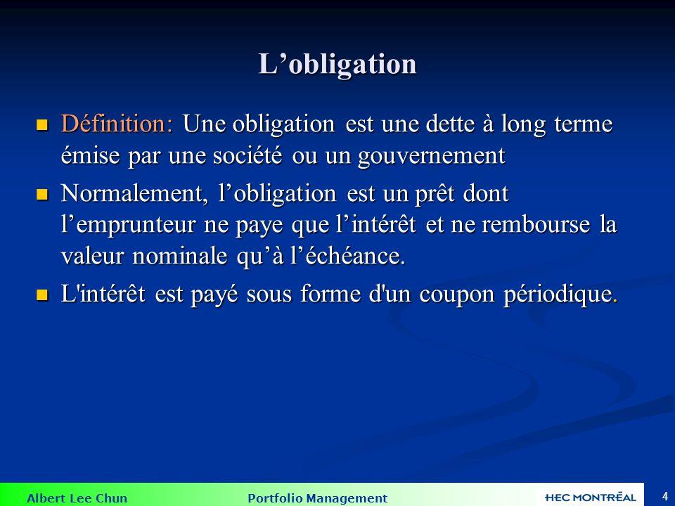Composantes de l obligation