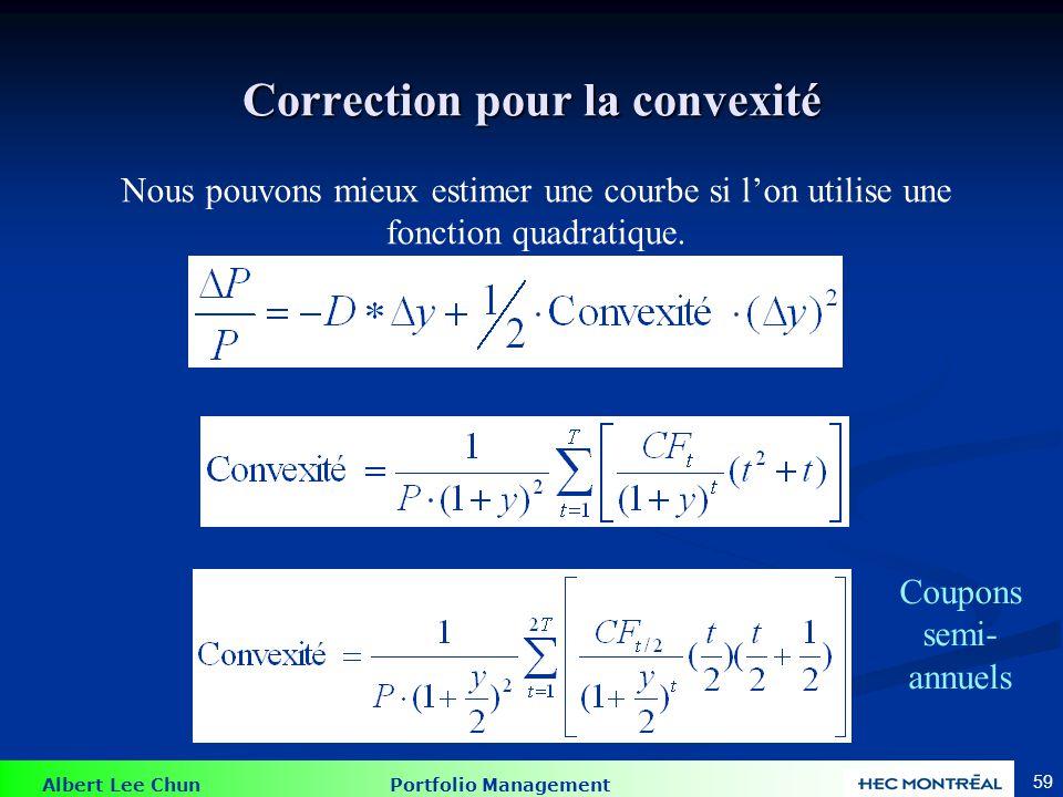 La durée s'ajoute à la convexité