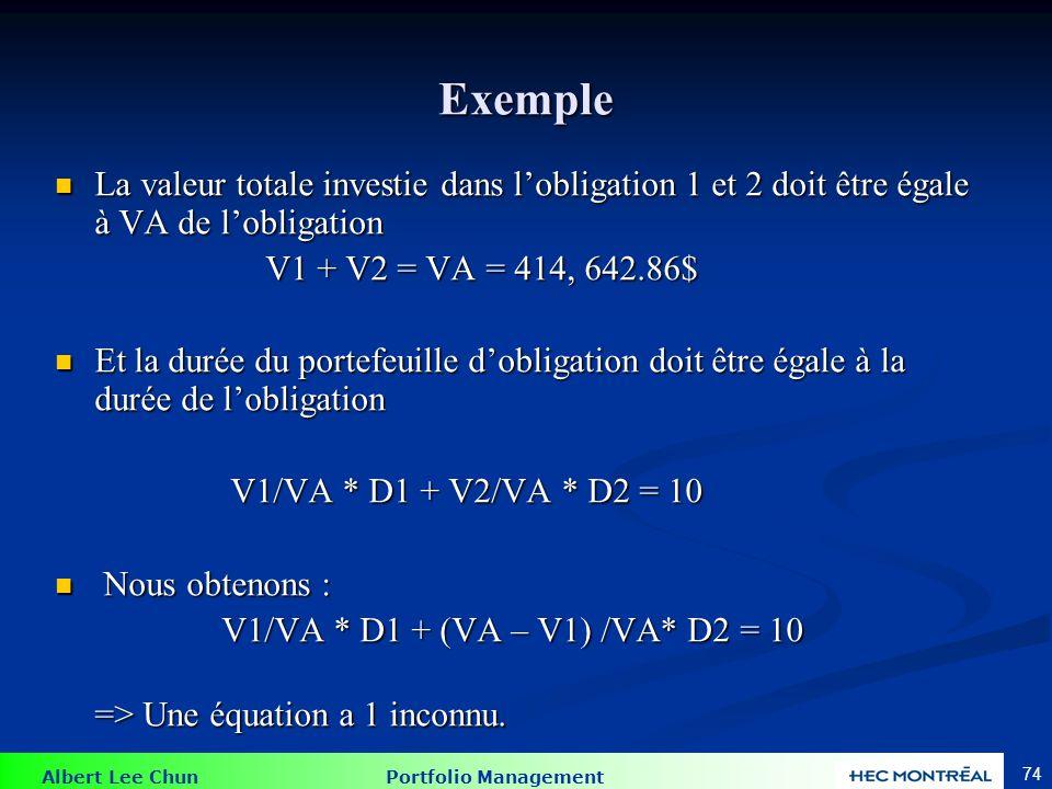 Exemple De la feuille Excel : V1 = 292617.60 V2 = 122025.26