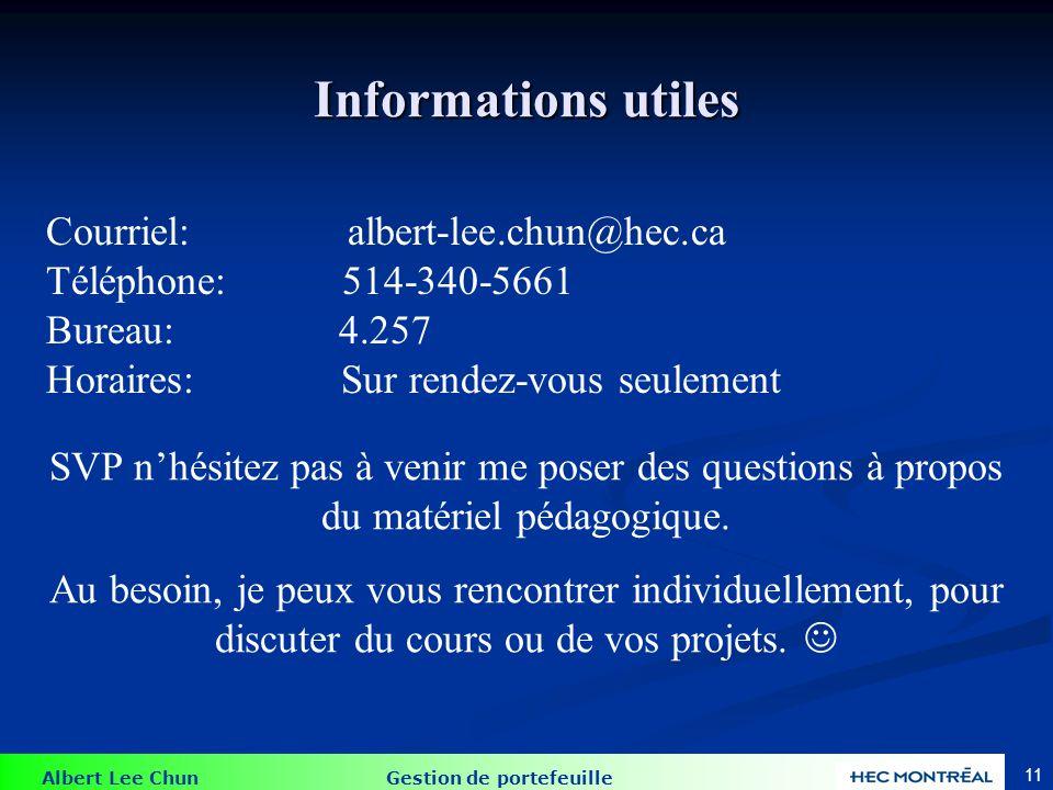 Information sur le cours