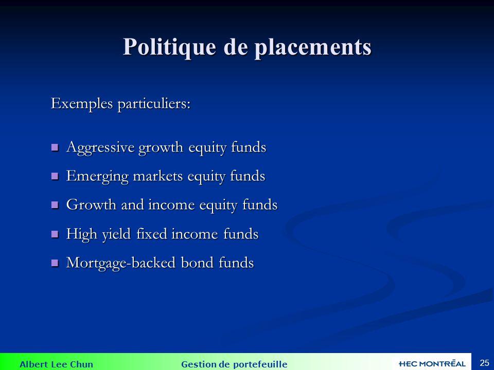 Variétés de fonds mutuels