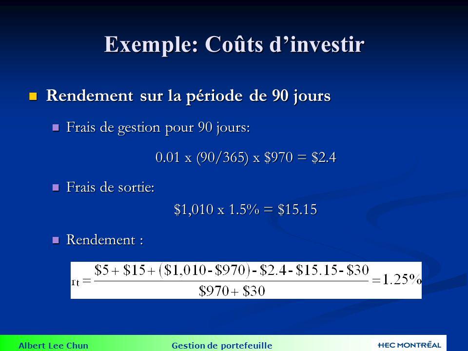L impact des coûts sur la performance